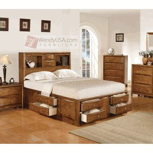 A bunch of great full-size captain's beds available on this site. Ones to remember: Bead Board Black Full Bookcase Captain Bed with Drawers / Bead Board Pecan Full Bookcase Captain Bed with Drawers