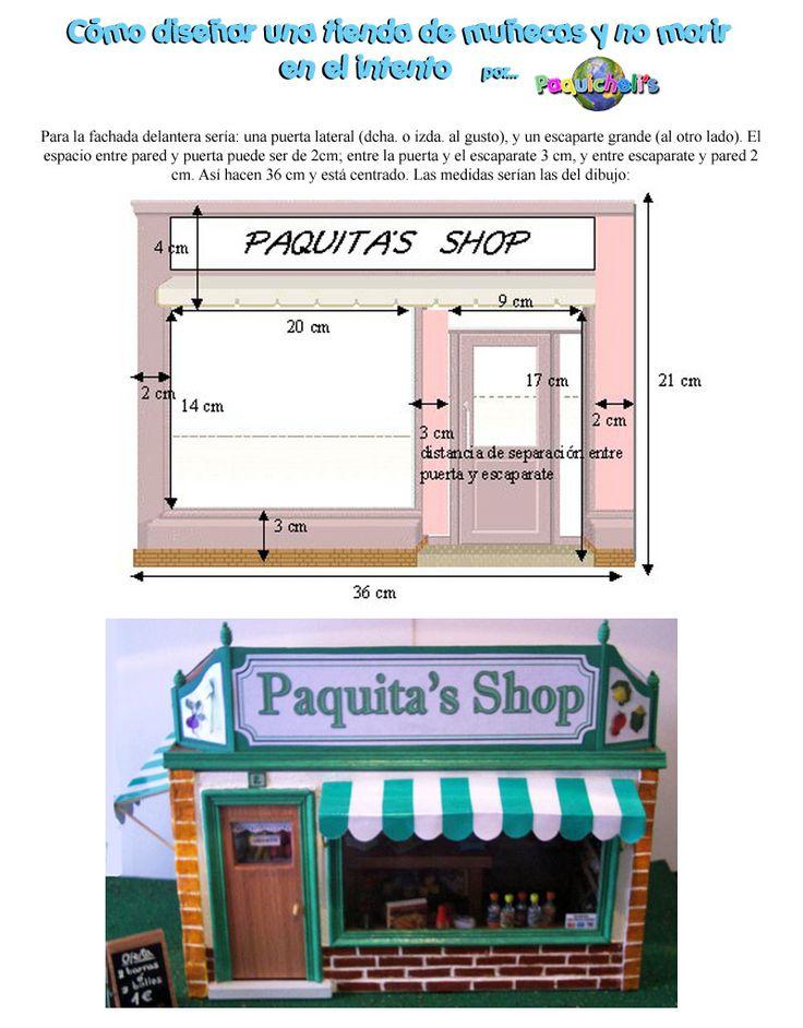 """El siguiente tutorial explica las medidas aproximadas para hacer una tienda de muñecas. Es algo """"cutresalchichero"""", pero si algo pretendo co..."""