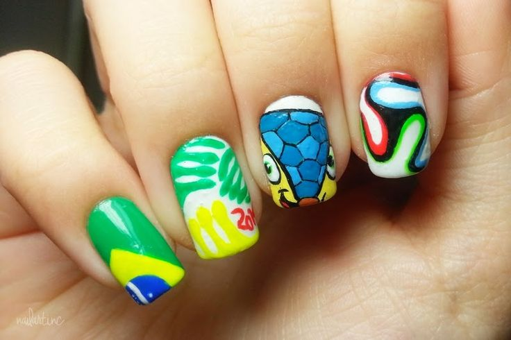 nailartinc: 2014 FIFA WORLD CUP BRASIL NAILART