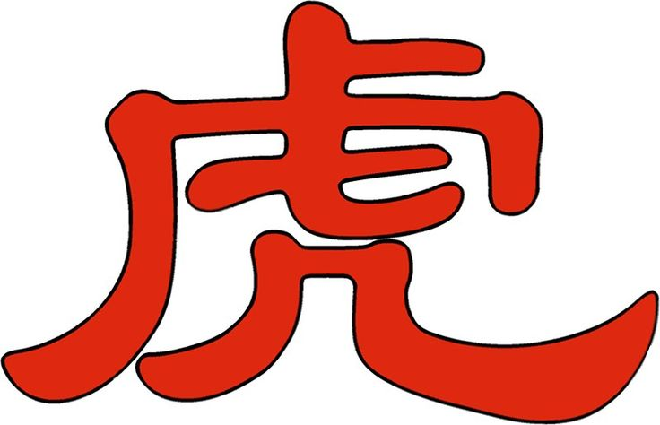 Chinese characters of Tiger