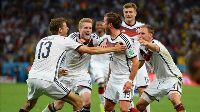 Highlights of the 2014 Fifa World Cup final as Mario Gotze's superb extra-time winner wins the trophy for Germany against a misfiring Argent...