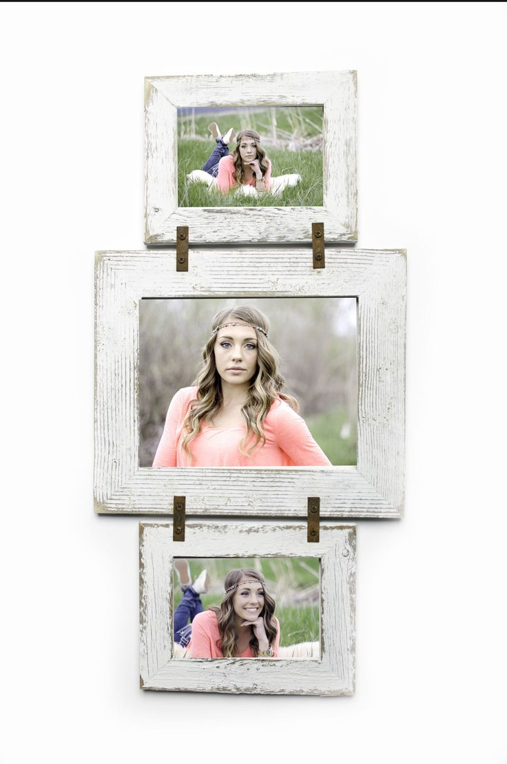 Barnwood Collage Frame 2 hole 5x7 and 1 hole 8x10 Multi Opening Frame-Rustic Picture Frame-Reclaimed-Collage Frame