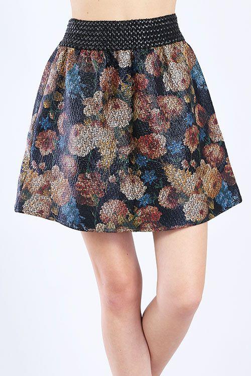 Mini Floral Skirt #skirt #mini #floral #pattern #shopping #zumelandco $74.99