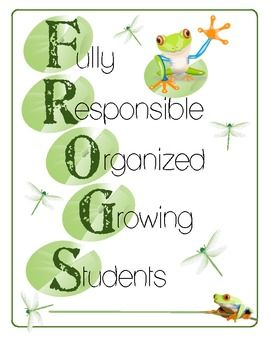 Here is a one page cover for student folders for your Frog Themed Classroom! Simply print and add the student's name and you have a wonderful col...