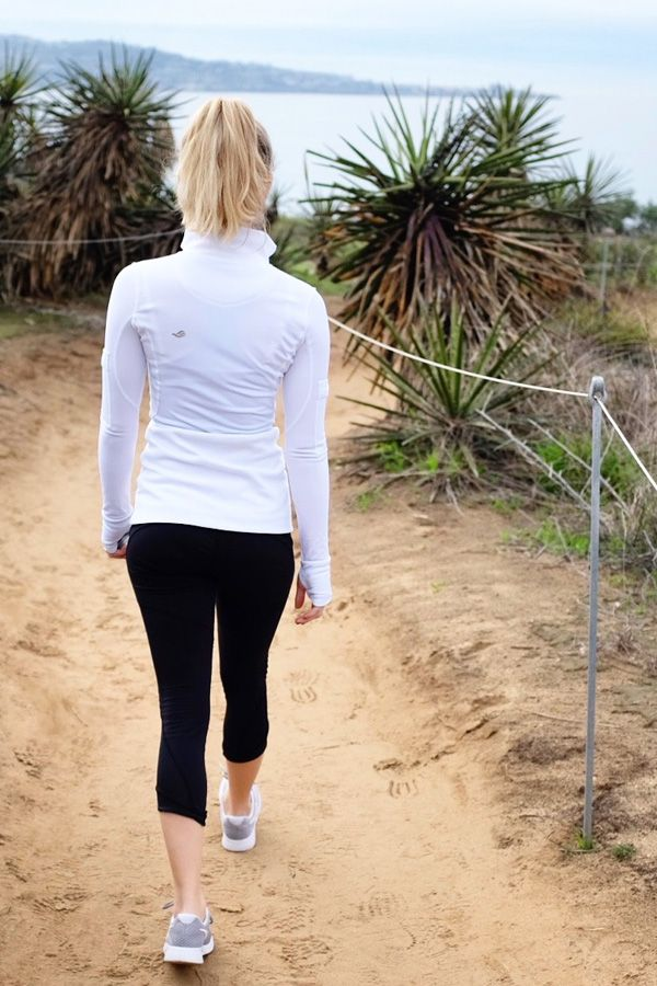 The marine layer down here in San Diego is no problem  when your wearing #GRACEDBYGRIT take on the beach trail no matter what while  sporting our Movie Star Jacket!   #GRACEDBYGRIT #SanDiego #moviestarjacket #grittygirls #beachtrails