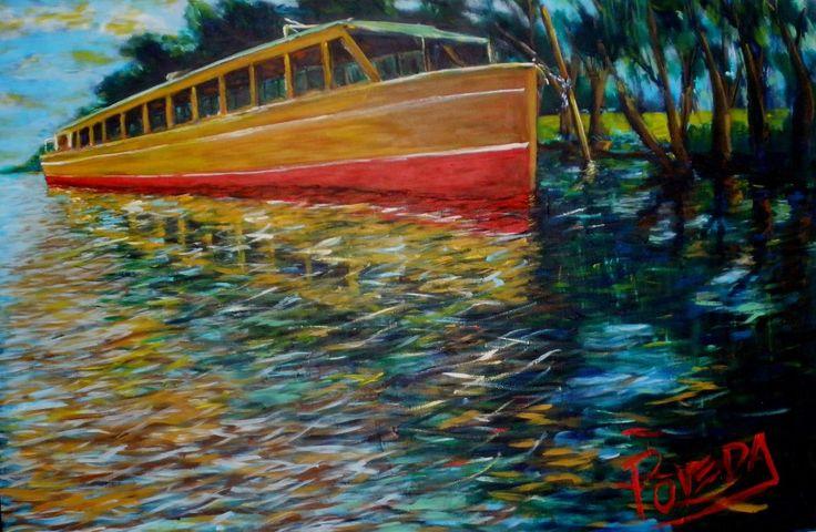 """Jorge Poveda Arte """"Al sol""""...Acrílico sobre madera, 80 x 120 ( en proceso)"""