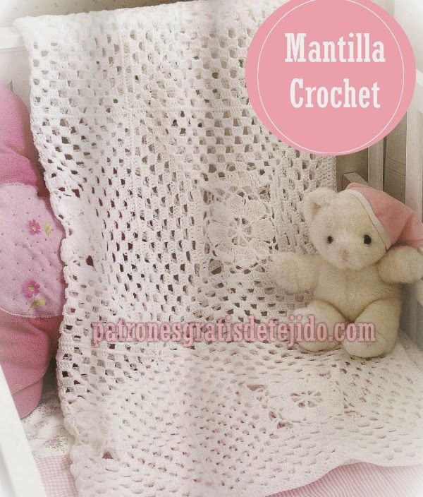 22 best mantillas bebé images on Pinterest | Manta bebé, Manta de ...