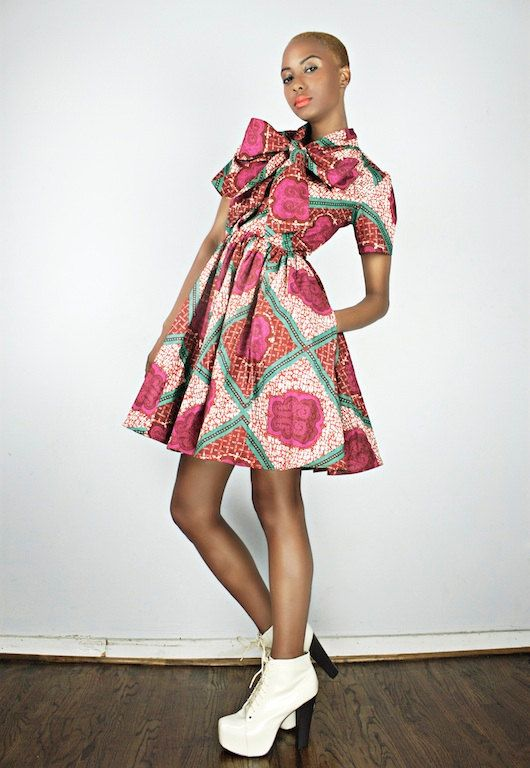 The Minnie Bell African Print  100 Holland Wax by DemestiksNYC, $200.00