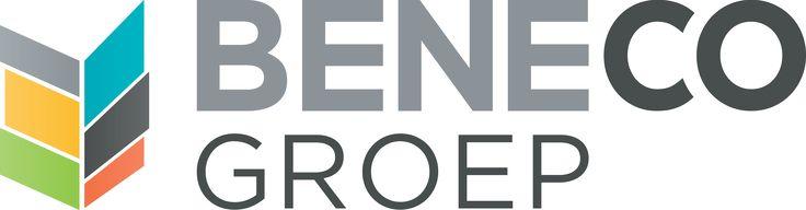 Beneco Groep | Logo design | Sans-serif | Shield | Gray, yellow, orange, green, blue