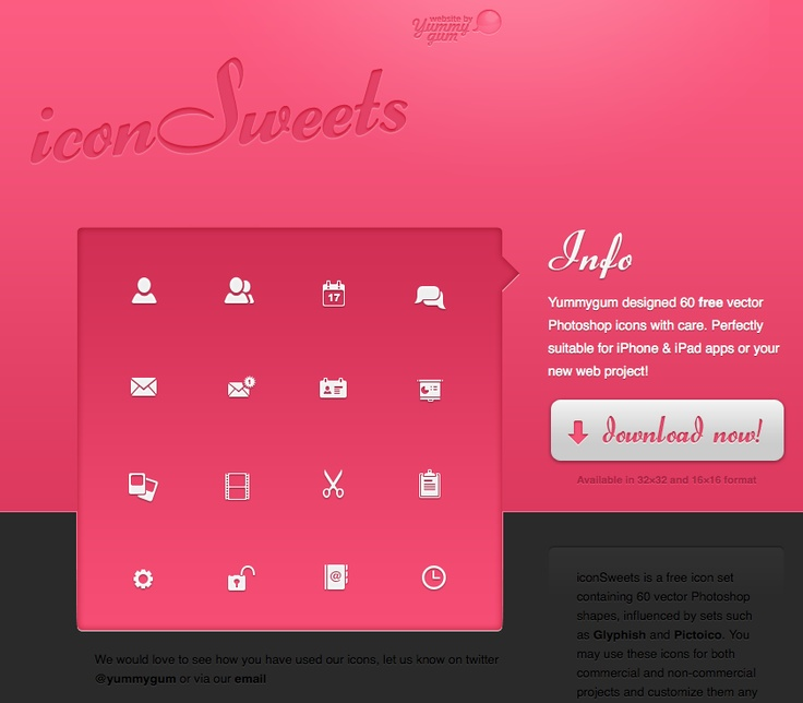 Free: Icon Sweets  http://iconsweets.com/