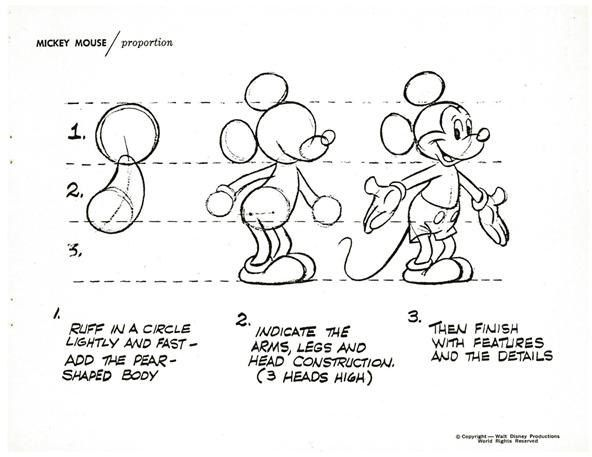 How to Draw Disney's Most Famous Cartoon Character — Mickey Mouse
