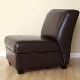 Found it at Wayfair - Fleance Leather Slipper Chair
