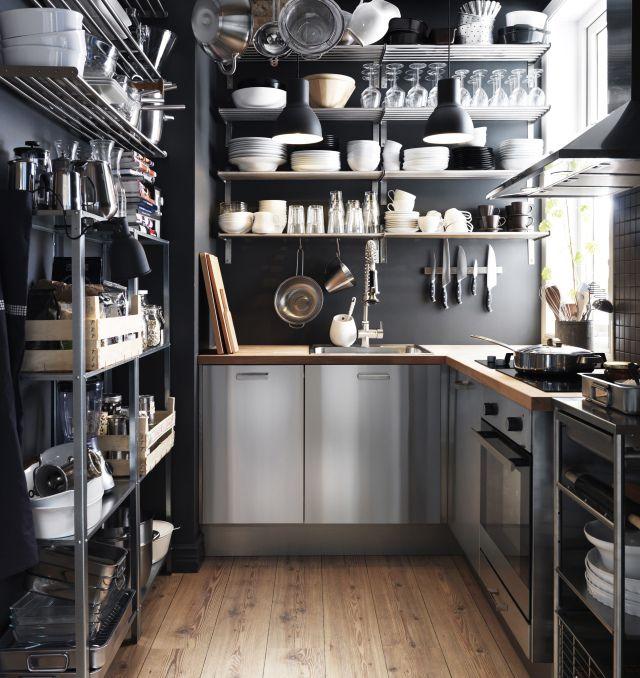 X IKEA Rubrik stainless steel kitchen.