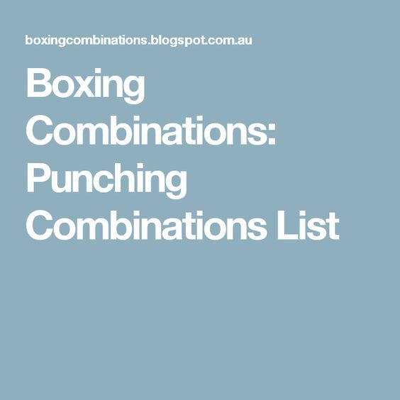 Best 25 Boxing Punches Ideas On Pinterest Punching Bag
