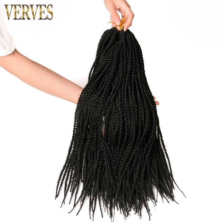 Ombre Crochet Braid hair 18inch 75g/pcs,small Senegalese Twist Hair 30strands/pack Synthetic Braiding Hair extensions #Affiliate