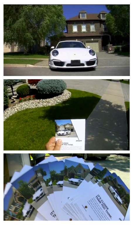 Local Porsche dealership custom direct mail pieces