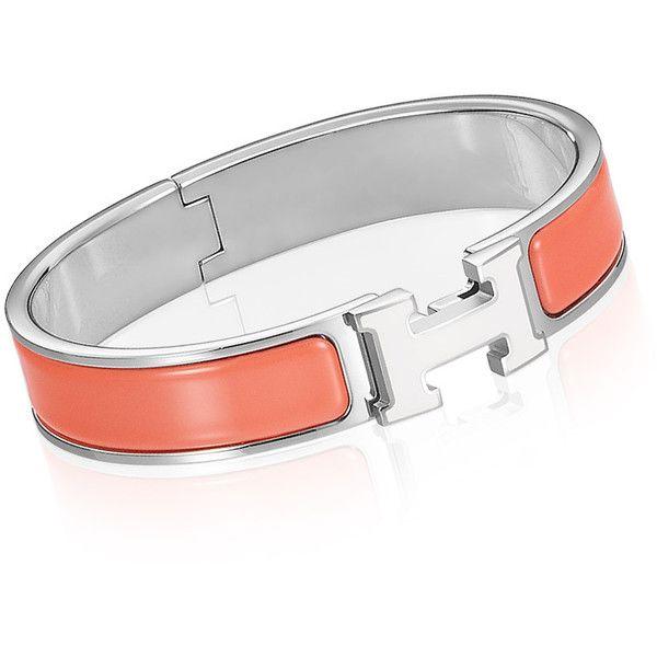 Hermès Clic H Bracelet ($740) found on Polyvore
