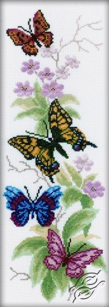 Butterflies And Flowers - Cross Stitch Kits by RTO - M146