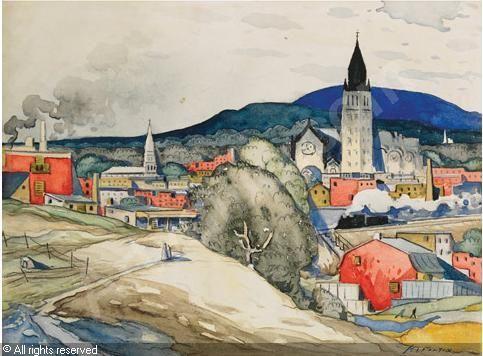 """FORTIN Marc-Aurèle de Foy, 1888-1970 (Canada), """"VUE SUR HOCHELAGA"""""""