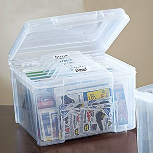 Card Organizer - Organize greeting cards, recipes, receipts and everything in between! This archival box is perfect for tucking away greeting cards for giving, letters from a loved one, photos of the kids...even recipe cards or coupons. $14.98 CAD