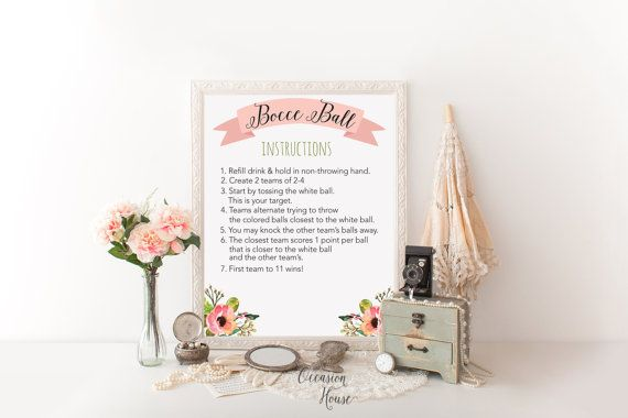 Printable wedding lawn game signs wedding games by OccasionHouse