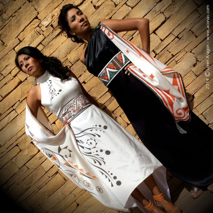 silk gowns, Loren Aragon (Acoma Pueblo) (concepts for Angkorian court wear; change the colors to something more muted as neutral.)
