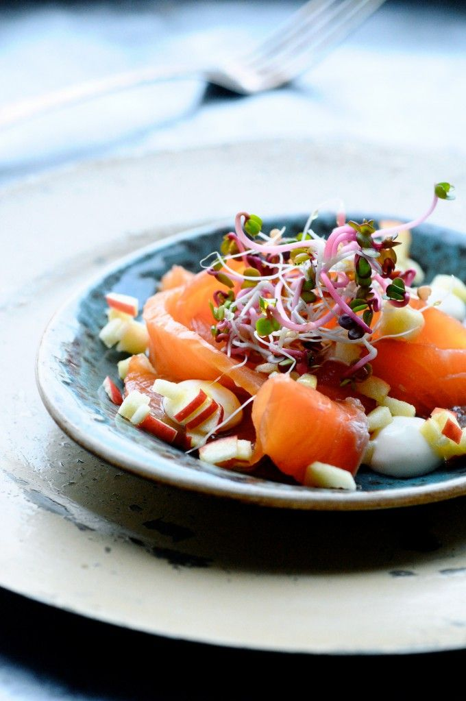 Icelandic Smoked Salmon with Creamy Feta Spread