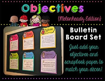 Update: 10/19/14:  Now included are editable objectives pages that coordinate with all my headers. Please download the preview to see the added pages. If you are interested in only purchasing the headers, please follow the link below:  Melonheadz Headers  You are purchasing a set of eleven objective headers that you can use with scrapbook paper of your choice to display your objectives.