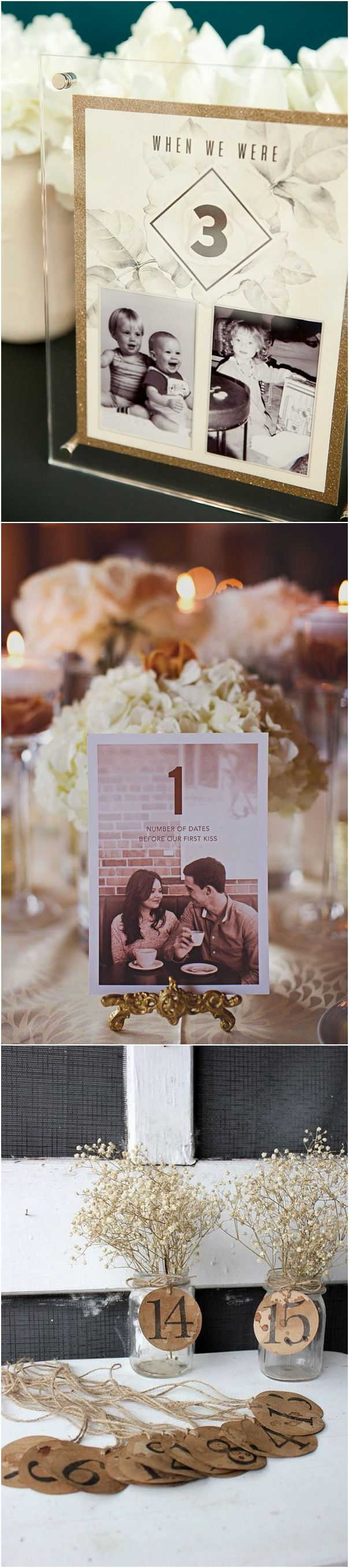 unique wedding table number decoration ideas