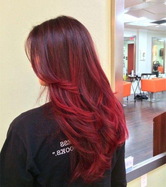 Tendenze dei capelli ombre rosse calde per le ragazze ...