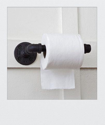 Plumbing Pipe Toilet Paper Holder