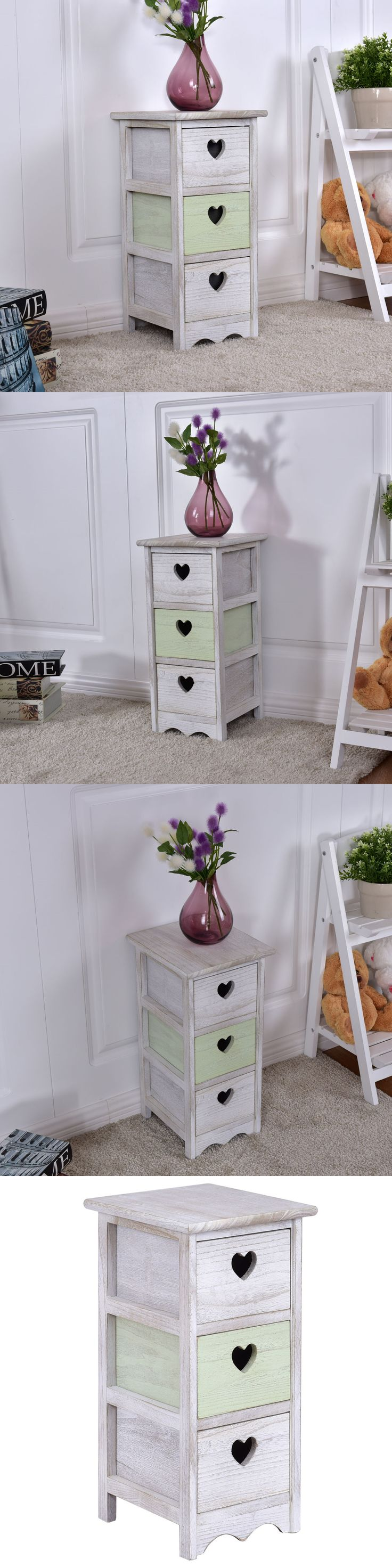 Nightstands 38199: Wooden Bedside Table Nightstand Cabinet Bedroom Furniture W 3 Storage Drawer -> BUY IT NOW ONLY: $32.95 on eBay!