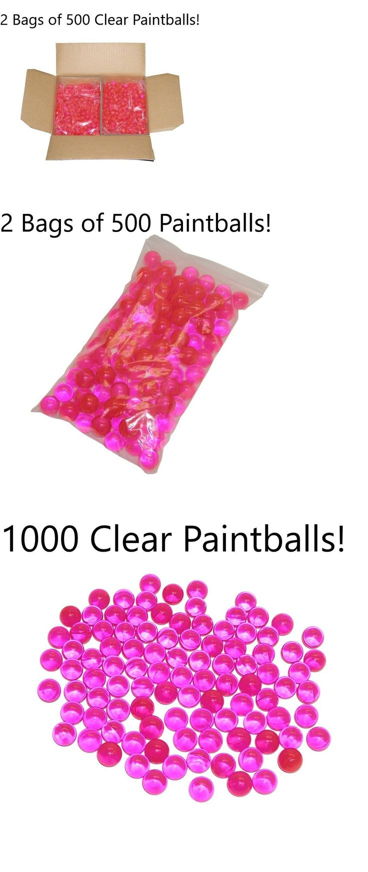 Paintballs 16049: 1000 Clear Police Law Enforcement Training 68 Caliber Premium Paintballs Case -> BUY IT NOW ONLY: $48 on eBay!