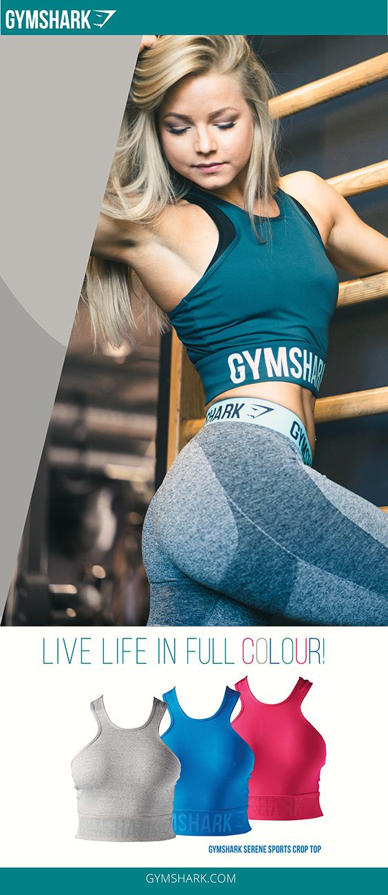 The Serene Sports Crop Top is a lightweight, exercise crop top. With a full mesh back, elasticated waistband and printed Gymshark detail for a fashionable, comfortable workout top.  - Mesh back for ventilation - Elasticated Waistband