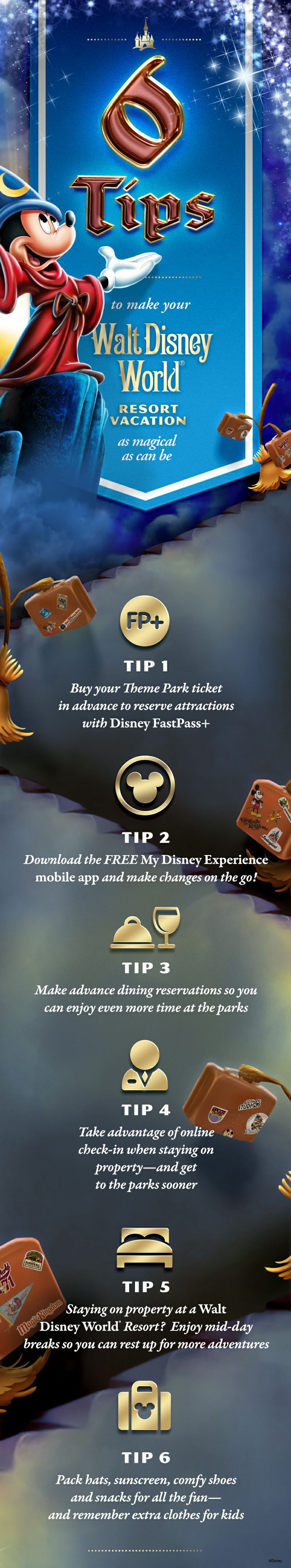Follow these 6 tips to make your Walt Disney World Resort vacation as magical as can be!