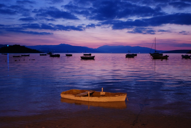 Lone Boat - Tolo, Greece by Janicskovsky, via Flickr