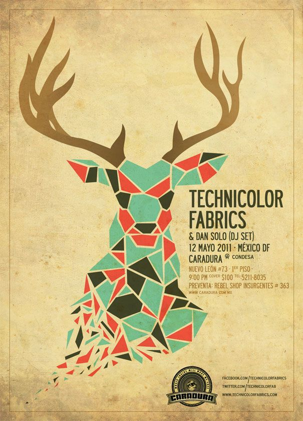 Technicolor Fabrics - band poster