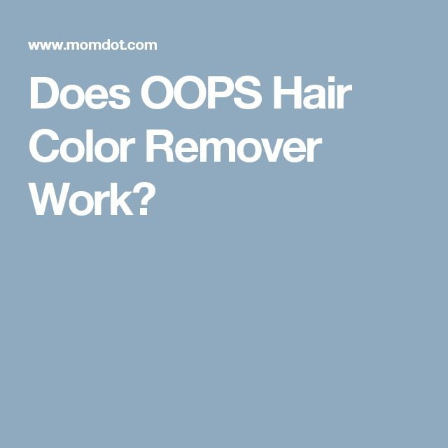 Does Color Oops Bleach Natural Color