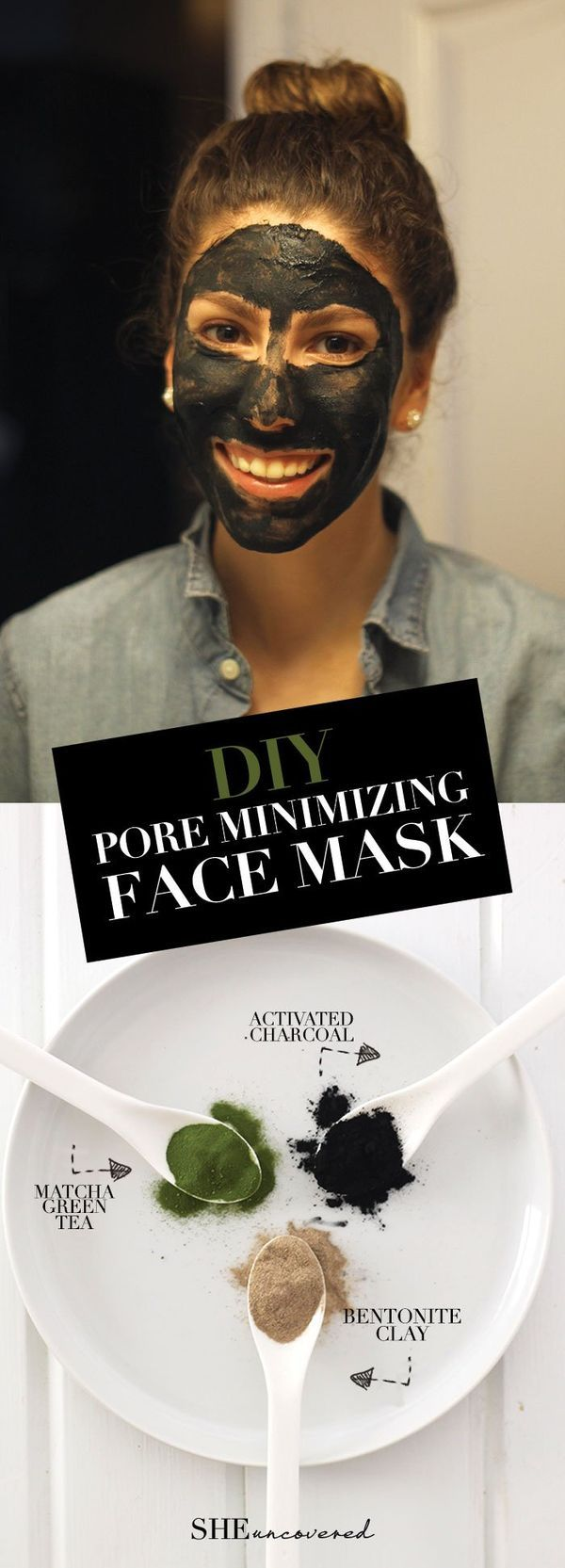 DIY Pore Minimizing Face Mask made from just 3 all-natural ingredients! We love DIY skin care and beauty routines!