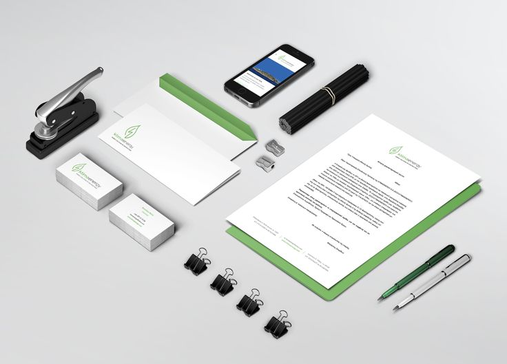 Corporate identity complete presentation for KtimaEnergy Solutions & Constructions Company, including letterhead, envelope, business cards and website mobile optimisation.