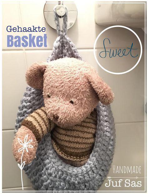 Gehaakte Hanging Basket Handmade By Juf Sas Met Gratis Patroon