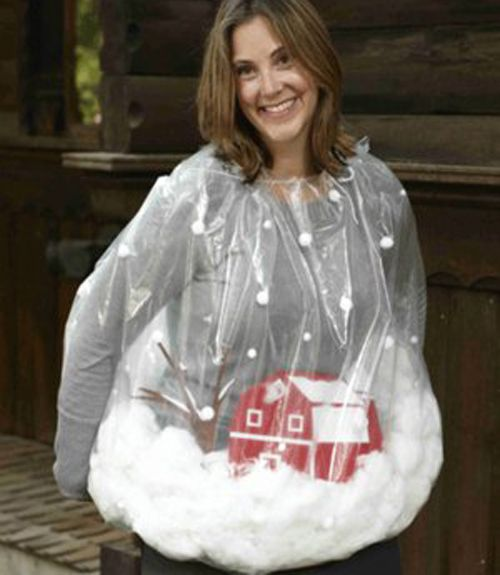 This might be what i am this year for whoobilation :-) halloween costumes DIY snow globe