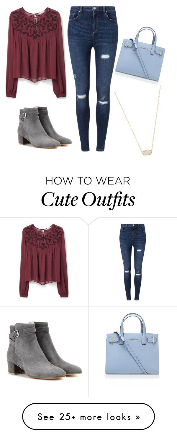 """Cute fall outfit"" by maryella-1 on Polyvore featuring MANGO, Miss Selfridge, Kurt Geiger, Gianvito Rossi, Kendra Scott, women's clothing, women, female, woman and misses"
