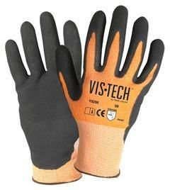 WELLS LAMONT Industrial Vis-Tech Y9296 with Nitrile Palm Mfg#Y9216XS(12/Pk).