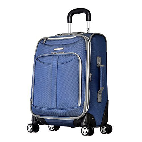 New Trending Luggage: Olympia Tuscany 21 Inch Expandable Carry-On Spinner, Denim blue, One Size. Olympia Tuscany 21 Inch Expandable Carry-On Spinner, Denim blue, One Size  Special Offer: $79.99  455 Reviews A perfect travel companion, this 21 inch expandable airline carry-on features double spinner wheels for a 360 degree spin allows free movement in all directions.Constructed of...