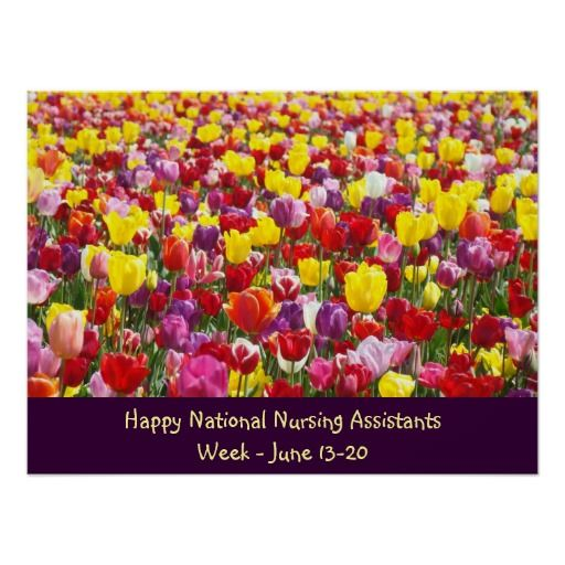 National Nursing Assistants Week posters SOLD Tulip Flowers posters custom. Thank You
