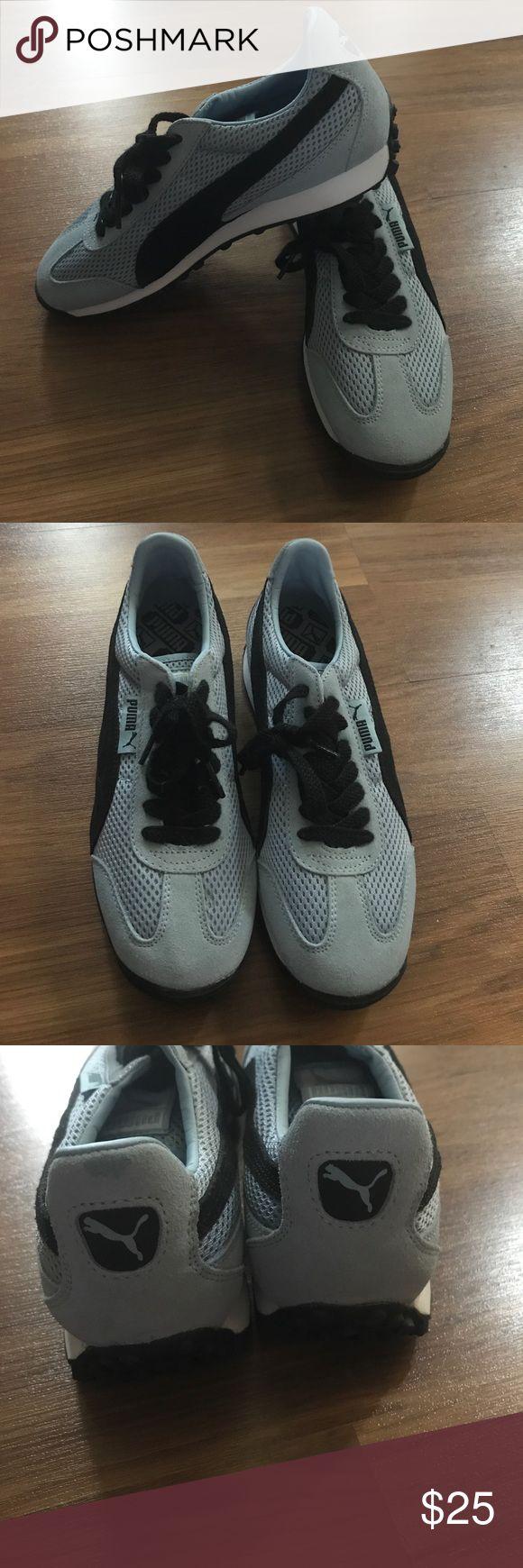 Light Blue Puma Sneakers NWOT light blue puma sneakers. Never worn Puma Shoes Athletic Shoes