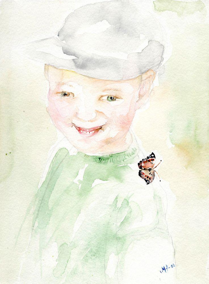 Poikani,rakkaani-Akvarelli