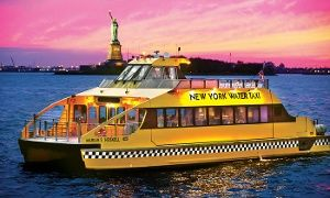 Groupon - $ 17 for a Statue of Liberty Boat Cruise from New York Water Taxi and Circle Line Downtown ($31 Value)  in New York Water Taxi and Circle Line Downtown. Groupon deal price: $17