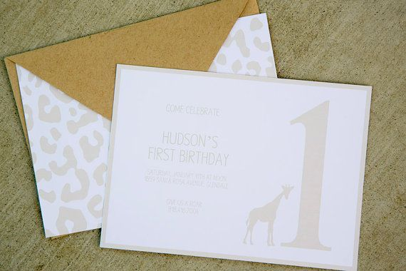 Golden Safari Party Printable Invitations by by BloomDesignsOnline, $14.00